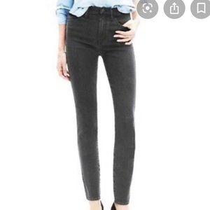 Madewell mid rise black skinny jeans vintage wash